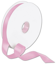 "Double Face Pink Satin Ribbon, 7/8"" x 100 Yds - 1 Roll"
