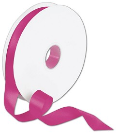 Double Faced Shocking Pink Satin Ribbon 7/8 x 100 Yds - 1 Roll