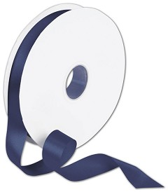 "Double Face Navy Satin Ribbon, 7/8"" x 100 Yds -  1 Roll"