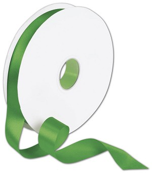 Double Faced Emerald Green Satin Ribbon 7/8in x 100yrd -  1 Roll