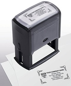 Name and Address Stamp - Self Inking - Large - 1 Stamp