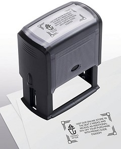 Self Inking Coupon Stamp -  1 Stamp