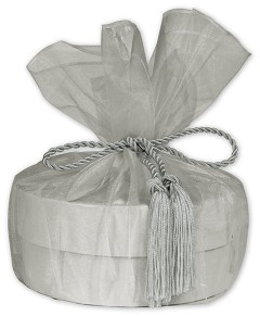 Organza Wrap with Tassels - 1 pack of 10 wraps