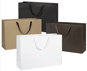 Manhattan Eco Euro-Shoppers 20 x 6 x 14 - 1 pack of 50 shoppers