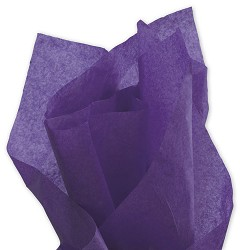 Solid Tissue Paper, Purple, 20 x 30 - 1 ream of 480 Sheets