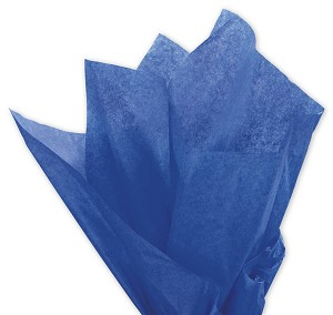 Solid Tissue Paper, Parade Blue, 20 x 30 - 1 Ream of 480 Sheets