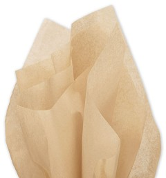 Solid Tissue Paper, Tan, 20 x 30 - 1 Ream of 480 Sheets