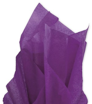 Solid Tissue Paper, Plum, 20 x 30 - 1 ream of 480 Sheets