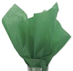 Solid Tissue Paper, Holiday Green, 20 x 30 - Ream of 480 Sheets