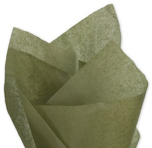 Solid Tissue Paper, Olive Green, 20 x 30 - 1 Ream of 480 Sheets