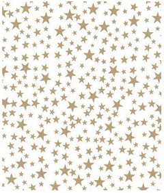 Gold Stars Tissue Paper, 20 x 30 - 1 Ream of 240 Sheets