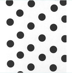 Black Dots on White Tissue Paper, 20 x 30 - 1 Ream of 240 Sheets