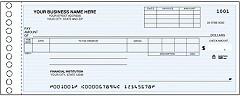 Compact Size General Expense and Payroll One Write Check - 250 Checks