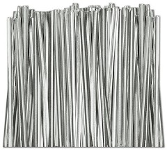 Silver Metallic Twist Ties, Size Choice - 2,000 ties