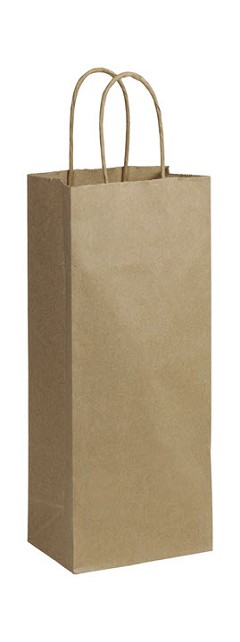 "Recycled Kraft Paper Shoppers, 5 1/4"" x 3 1/2"", 13"", 250 Shoppers"