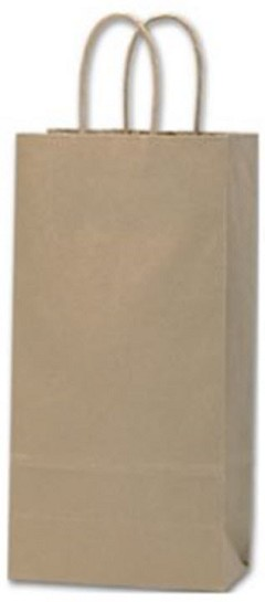 Recycled Kraft Paper Shoppers - 250 shoppers