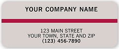 Advertising Labels, Gray w/Maroon Stripe - 500 Count
