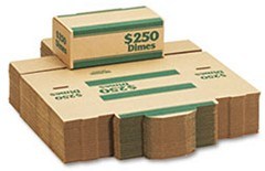 Cardboard Coin Transport Boxes Dimes - 50 Boxes