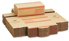 Cardboard Coin Transport Boxes Quarters - 50 Boxes
