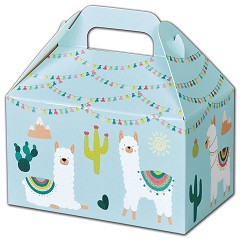 "Party Llama Gable Boxes  6 x 3 3/4 x 3 1/2""  -  6 Boxes"