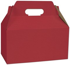 Varnish Striped Gable Boxes, 9 1/2 x 5 x 5 - 125 Boxes