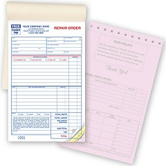 Garage Repair Orders - 250 Forms