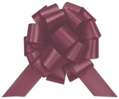 Burgundy Satin Perfect Pull Bows, 20 Loops, 5 1/2 - 50 Bows
