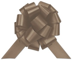 Chocolate Satin Perfect Pull Bows, 20 Loops, 5 1/2 - 50 Bows