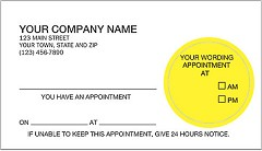 Peel and Stick Appointment Card - 1,000 Cards