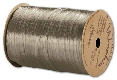 "Pearlized Wraphia Taupe Ribbon, 1/4"" x 100 Yds -  1 Roll"