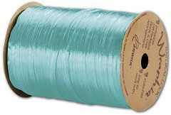 Pearlized Wraphia Robin's Egg Blue Ribbon, 1/4x100 Yds -  1 Roll
