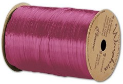 "Pearlized Wraphia Hot Pink Ribbon, 1/4"" x 100 Yds - 1 Roll"