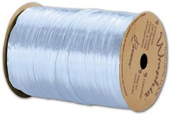 "Pearlized Wraphia Light Blue Ribbon, 1/4"" x 100 Yds -  1 Roll"