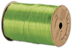 "Pearlized Apple Green Wraphia Ribbon, 1/4"" x 100 Yds - 1 Roll"