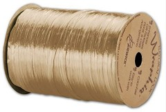 "Pearlized Wraphia Ivory Ribbon, 1/4"" x 100 Yds -  1 Roll"