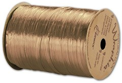 "Pearlized Wraphia Gold Ribbon, 1/4""x100 Yds -  1 Roll"