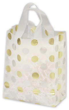 Frosted Patterned Shoppers - 100 Bags