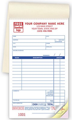 Medium Format Service Orders Booked - 250 Forms