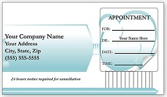 Dental Appointment Cards Peel and Stick -  500 Cards