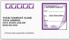 Dental Appointment Cards Peel and Stick 500 Cards