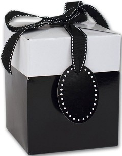 "Black Tie Giftalicious Pop-Up Boxes 3"" x 3"" x 3 1/2""  -  10 Boxes"