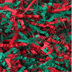 Holiday Red and Green Filler Shred - One 10lb Box