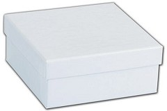 White Krome Jewelry Boxes, 3 1/2 x 3 1/2 x 1 1/2 - 100 Boxes