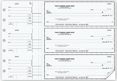 3-On-A-Page Business Checks with Side Stub - 250 checks