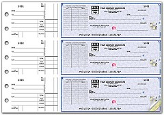 High Security 3 On A Page Checks, On-Check Voucher, Quantity 250 Checks