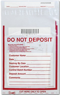 Clear Do Not Deposit Money Handling Bag - 100 Bags