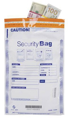 EGP Single Pocket Money Handling Bag Opaque 10 x 15 - 100 bags
