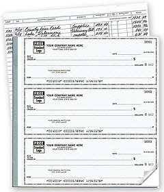 Executive Deskbook Checks with Deposit Tickets - 250 checks