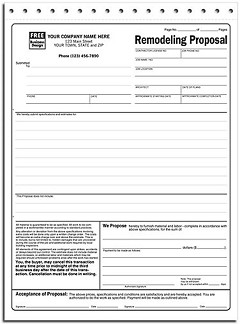 Remodeling Proposals - 100 Forms