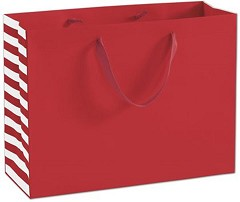 "Red Manhattan Euro-Shoppers 16 x 6 x 12""  -  100 Bags"